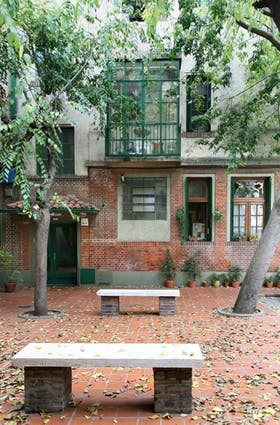 El patio compartido está pensado como lugar de encuentro entre vecinos