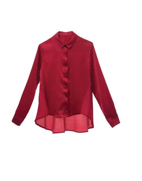 Camisa irregular Las Pepas (Antes $1590, ahora $799).