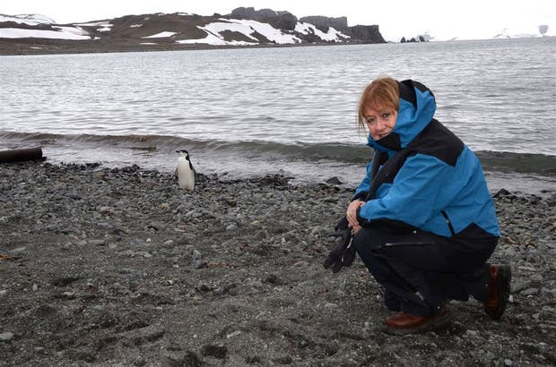 Susana Malcorra, el jueves, en la isla antártica 25 de Mayo