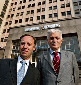 Los doctores Santiago Horgan (izquierda) y Pedro Ferraina