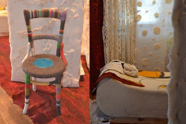Distintas y originales propuestas de deco creadas con fieltro, en el espacio de Fieltro Patagonia by Evelyn Bendjeskov. Foto: Soledad Avaca Cuenca