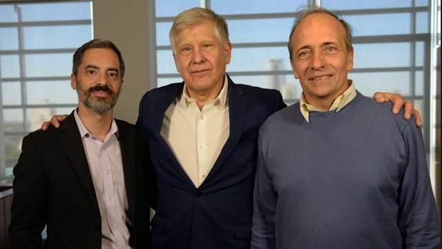 Lucas Macri, Mario Diaz y Diego García Lambas