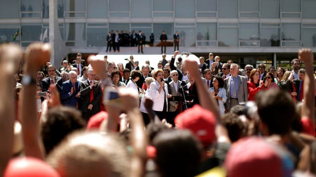 El último discurso de Dilma antes de dejar el poder. Foto: Reuters / Ueslei Marcelino