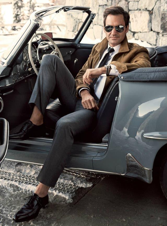 Federer, en su faceta como modelo