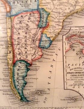 La Patagonia, en poder de Chile, según cartografía de 1860