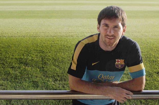 Leo Messi posa para la entrevista con EL PAÍS. / ALEJANDRO RUESGA