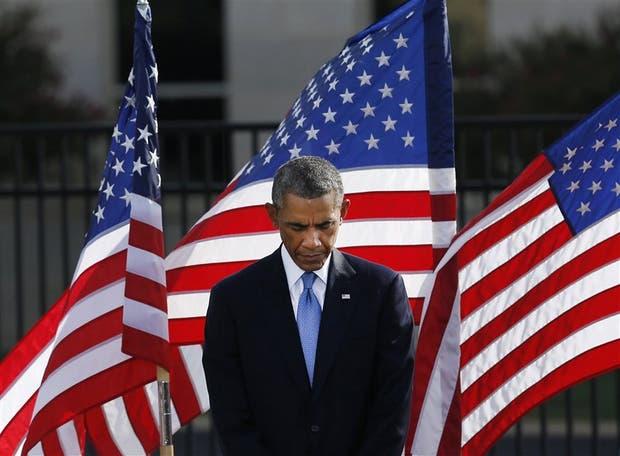 Barack Obama, durante una ceremonia en el Pentágono
