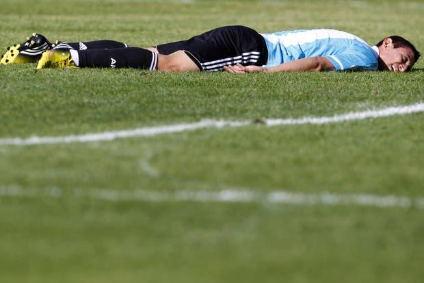 La Argentina sufrió la altura de La Paz. Di María fue el mejor e hizo un desgaste terrible..  Foto:AP