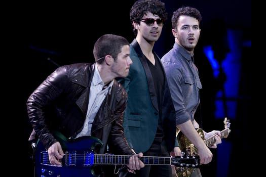 Los Jonas Brothers, en Chile. Foto: AFP