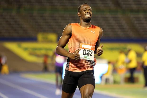 La cara de dolor de Usain Bolt