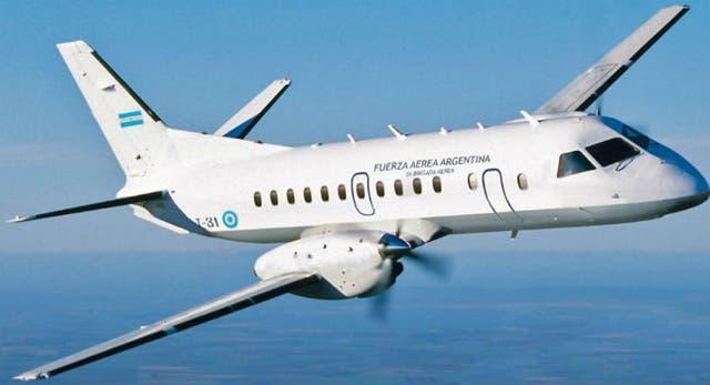 Aviones SAAB 340 de LADE, que cumplen servicio en la Patagonia