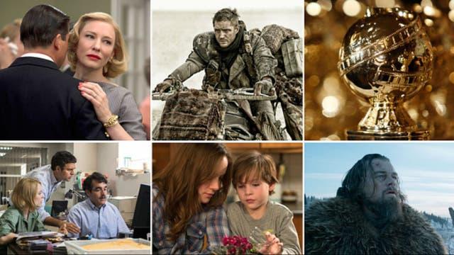 Las nominadas en drama son: Carol, Mad Max: Fury Road. Spotlight, Room y El renacido