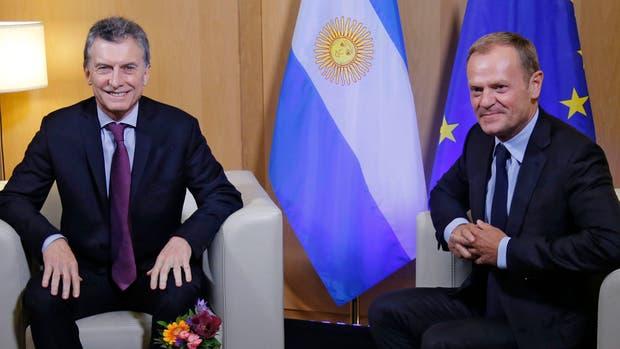 Macri se reunió con el presidente del Consejo Europeo, Donald Tusk