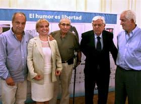 Lombardi, Giudici, Muchnik, Sábat y Cárdenas, ayer, en la fundación LED