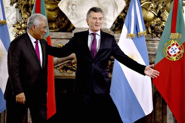 António Costa fue recibido ayer por Mauricio Macri en la Casa Rosada