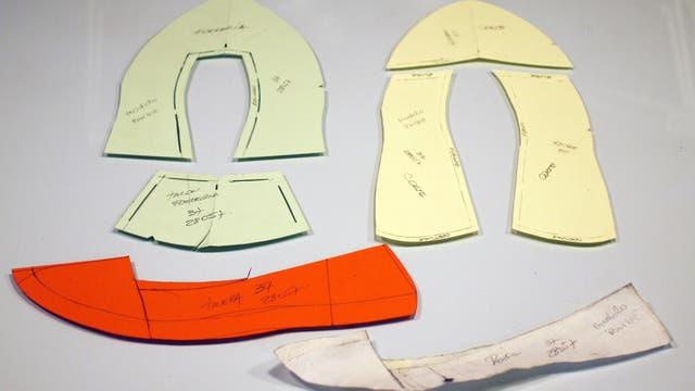 Moldería del calzado diseñado