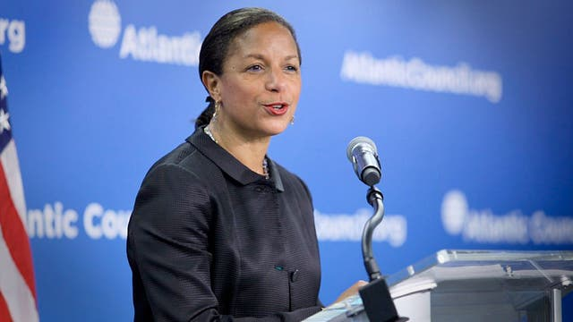 Susan Rice, al formular el anuncio en Washington