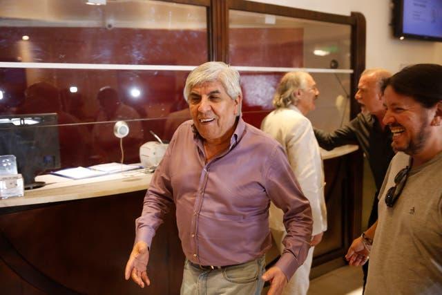 El líder sindical de Camioneros, Hugo Moyano