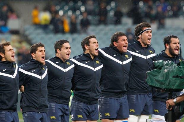 Los Pumas quedaron en la puerta de otro triunfo histórico ante los Wallabies en Perth.  Foto:LA NACION /Rodrigo Néspolo / Enviado especial