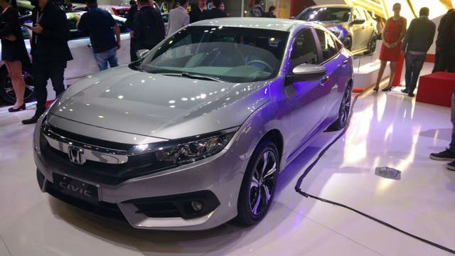 Honda Civic en el Salón del Automóvil.
