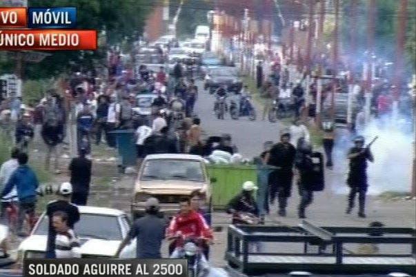 Una imagen de la violencia en Gobernador Gälvez