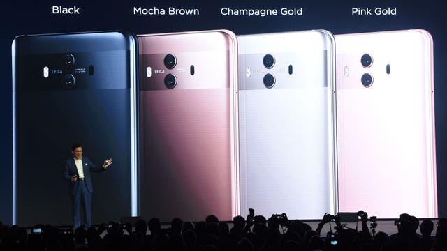 Los cuatro colores del Huawei Mate 10 Pro