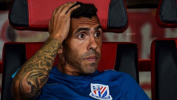 Tevez no es ni suplente en la Superliga china