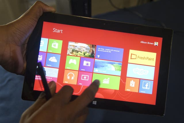 Una Microsoft Surface Pro, con chip Intel