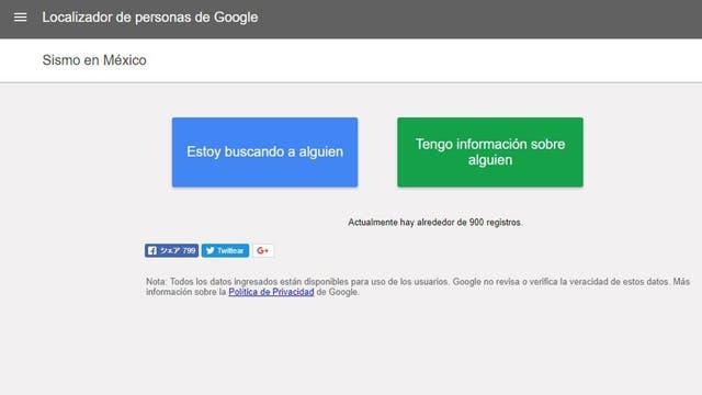 Google lanza herramienta útil para afectados en sismo — Terremoto en México