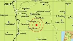 Mendoza: un sismo sacudió el centro de la provincia
