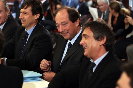 De vido y Kicillof en el plenario de comisiones del Senado que trata el proyecto de ley de expropiación de YPF. Foto: LA NACION / Aníbal Greco