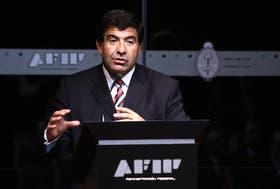El titular de la AFIP, Ricardo Echegaray, en una conferencia de prensa