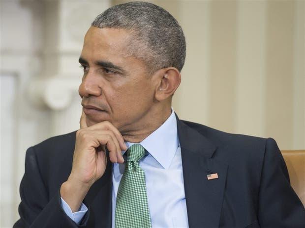 El presidente Obama, ayer, en el Salón Oval de la Casa Blanca