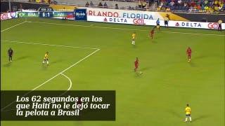 Los 62 segundos en los  que Haití no le dejó tocar  la pelota a Brasil