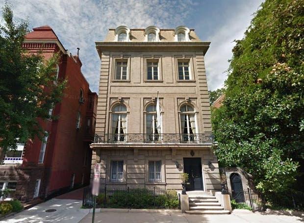 La residencia del embajador argentino en EE.UU.