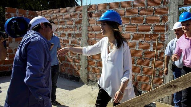 Vidal, ayer, en Gral. Madariaga, en una obra de viviendas