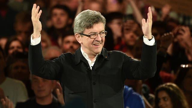 Melenchon convocó a una multitud ayer en Marsella