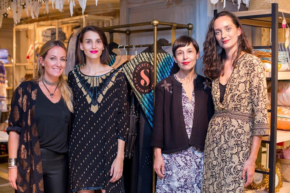 Pilar Rodríguez Varela, Gerente de Marketing de Rapsodia y Ana Torrejón posaron Julieta Enriquez y Mariana Shurink del team de expertas de moda.
