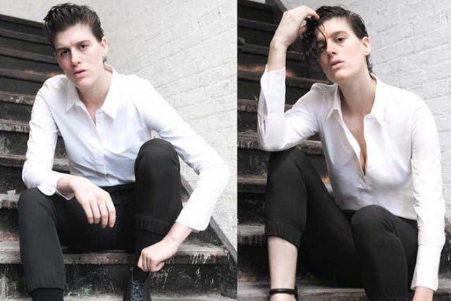 Rain Dove, la modelo estadounidense que posa para marcas de ropa de hombre y de mujer