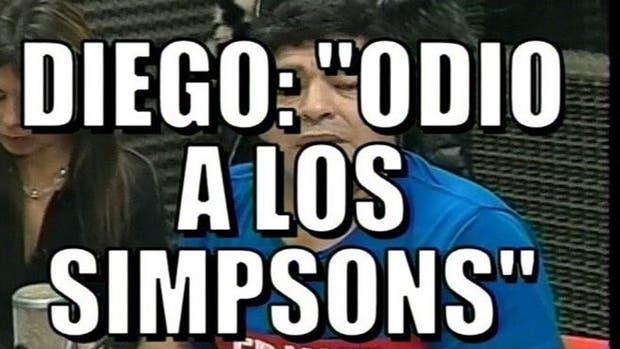 Maradona criticó a los Simpsons
