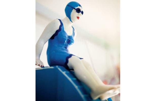 Morimos de amor con la escultura de esta nadadora. Foto: Xavier Martín