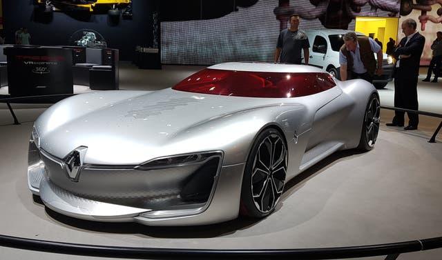 Sugestivo. El Renault Trezor Concept, sin duda el vehículo más sexy del Salón
