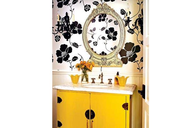 Mueble Baño Amarillo:Decorá con color: ¡ponele amarillo a tu baño! – Living – ESPACIO