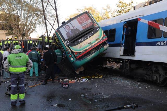 Un choque entre dos trenes y un colectivo el año pasado, en Flores, dejó siete muertos y más de 120 heridos