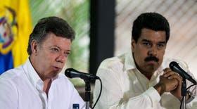 El presidente colombiano Juan Manuel Santos y su par venezolano Nicolás Maduro