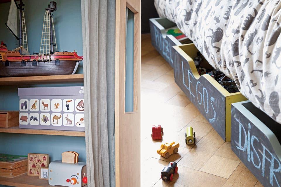 """""""Lo que más nos gusta es tener una casa que sea nuestra. Para los juguetes, para escondernos o armar shows con telón"""" Santos.  /Magalí Saberian"""
