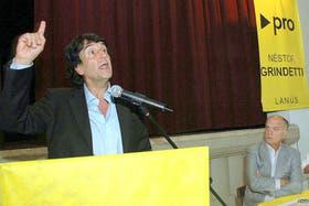 Carlos Melconian, en un acto de campaña en la provincia de Buenos Aires.