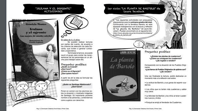 Parte del instructivo para alumnos de Nivel Inicial. Foto: CTERA