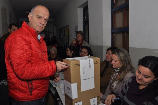 Grindetti votó en lanús por la mañana. Foto: Prensa Grindetti
