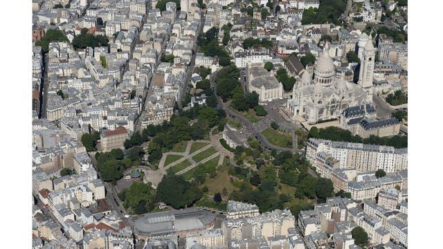 Vista aérea de la Basílica del Sacré Cour